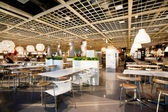 Interior of the dining room in international IKEA store — Stock Photo
