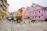 The old houses in the the historical town of Bohemia — Foto de Stock