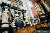 Religious symbols inside the Church of Saints Peter and Paul built in 1619 — Stock Photo