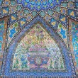 Blue color patterned dome with tiles of persian mosque — Stock Photo #67150631