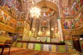 Beautiful fresco of the dome inside armenian cathedral. — Stock Photo