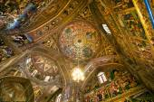 Interior and beautiful fresco of the dome inside the cathedral. — Stock Photo