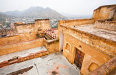View from the stone walls of the indian Amber Fort — Stock fotografie