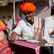 Music band of elderly Rajasthan musicians play songs — Stock Photo #76592471