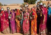 Beautiful dressed women on the famous Desert Festival — Stock Photo
