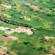 Golf course. View from the plane. — Stock Photo #55364881