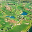 Golf course. View from the plane. — Stock Photo #55364905