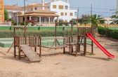 Modern children playground in city park. — Stock Photo