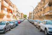 Cars parked along the street. — Stock Photo
