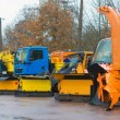 Road services are ready for winter. Winter service vehicles. — Stock Photo #58400543