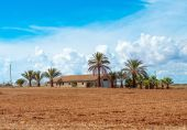 Spanish medieval country house. Place for your text. — Stock Photo