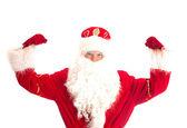Santa Claus - champion. Isolated on white. — Stock Photo