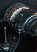 Engine. Part of old power plant. — Stock Photo