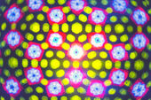 Kaleidoscope. Blurred defocused lights background. — Stock Photo