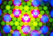 Kaleidoscope. Blurred defocused lights background. — Stock Photo