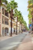 Street on tropical island. Space for your text. — Stock Photo