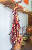 Bunch of dried red chili peppers. — Stock Photo