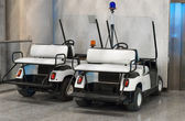 Maintenance personnel cars at the airport. — Stock Photo