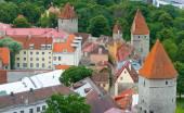 Old castle in medieval city. Tallinn, Estonia. — Stock Photo