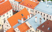 Houses with red roofs in old Tallinn. — Stock Photo