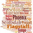 Word Cloud showing cities in Arizona — Stock Photo #74007297