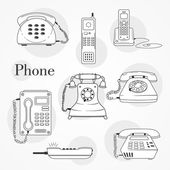 Vector phone icons set — Stock Vector