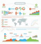 Modern set elements of infographics — Stock Vector