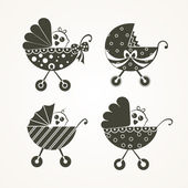 Icono de cochecito de bebé — Vector de stock