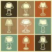 Lamp icons set — Stock Vector