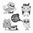 Owls design elements. — Stock Vector #65660279