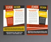 Brochura abstrato design — Vetor de Stock