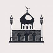 Mosque building religious symbol — Stock Vector