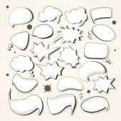 Conjunto de burbujas de discurso — Vector de stock