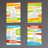 Set design layouts showman — Stock Vector