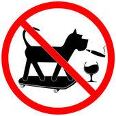 Forbidding Sign — Stock Vector