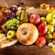 Autumn agriculture products on wood — Stock Photo #52408281