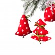 Christmas hand made decoration on white background — Stock Photo #54303565