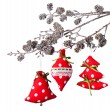 Christmas hand made decoration on white background — Stock Photo #54303569