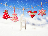 Hand made christmas decoration — Stock Photo