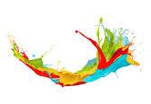 Macchie colorate su sfondo bianco — Foto Stock