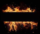 Ogień pasek — Zdjęcie stockowe