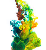 Colored ink isolated on white background — Stock Photo