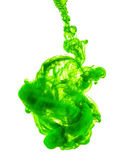 Green ink isolated on white background — Foto de Stock