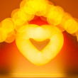 Abstract blur glowing heart — Stock Photo #61889571