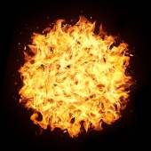 Fire sphere — Stock Photo