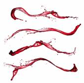 Red wine splashes — Stock Photo