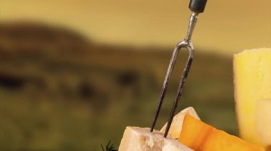French cheese — Stock Video