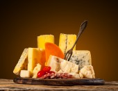 Various type of cheese — Stock Photo