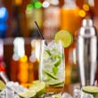 Mojito cocktail drink on bar counter — Stock Photo #72501765