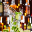 Mojito cocktail drink on bar counter — Stock Photo #72501871